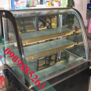 Tủ Bánh Kem Cũ Kính Cong